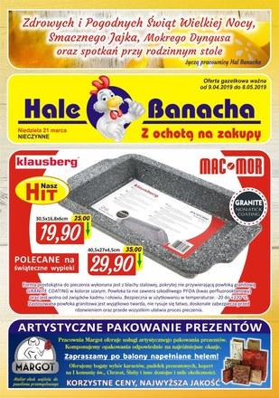 Gazetka promocyjna Hala Banacha, ważna od 09.04.2019 do 08.05.2019.