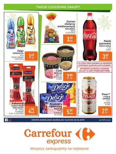 Gazetka promocyjna Carrefour Express, ważna od 16.04.2019 do 20.04.2019.
