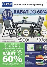 Gazetka promocyjna Jysk - Rabat do 60% - ważna do 01-05-2019