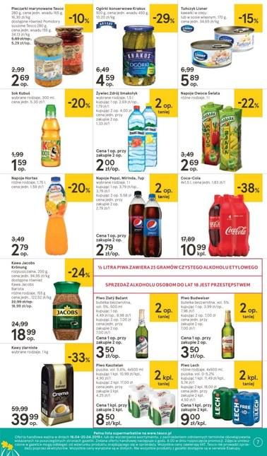Gazetka promocyjna Tesco Supermarket, ważna od 16.04.2019 do 20.04.2019.
