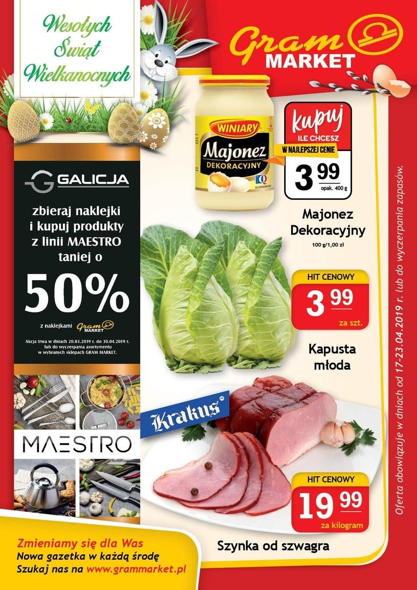 Gazetka promocyjna Gram Market - ważna od 16. 04. 2019 do 23. 04. 2019