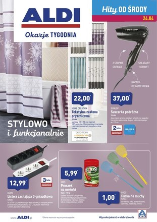 Gazetka promocyjna Aldi, ważna od 24.04.2019 do 27.04.2019.