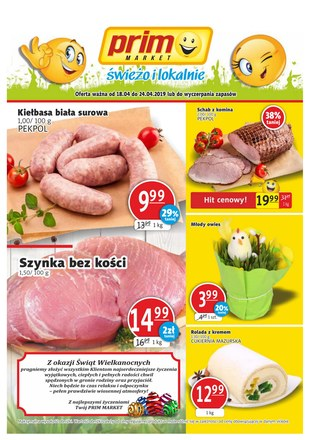 Gazetka promocyjna Prim Market, ważna od 18.04.2019 do 24.04.2019.