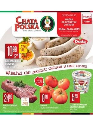Gazetka promocyjna Chata Polska, ważna od 18.04.2019 do 24.04.2019.