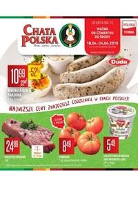 Gazetka promocyjna Chata Polska - Gazetka promocyjna - ważna do 24-04-2019