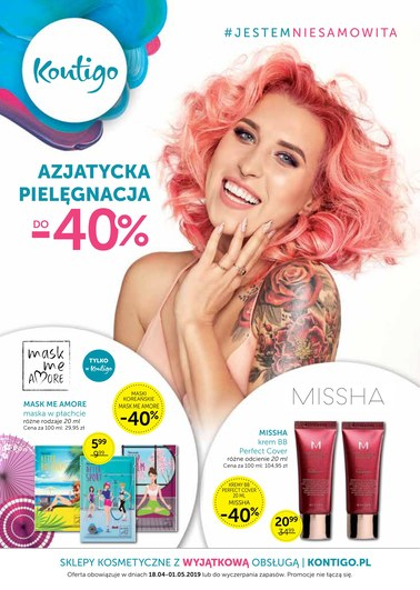 Gazetka promocyjna Kontigo, ważna od 18.04.2019 do 01.05.2019.