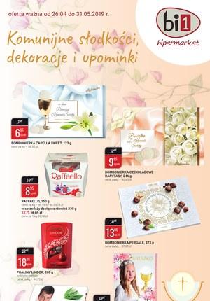 Gazetka promocyjna bi1 - Komunijne słodkości, dekoracje i upominki