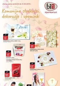 Gazetka promocyjna bi1 - Komunijne słodkości, dekoracje i upominki - ważna do 31-05-2019