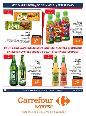 Gazetka promocyjna Carrefour Express, ważna od 23.04.2019 do 29.04.2019.