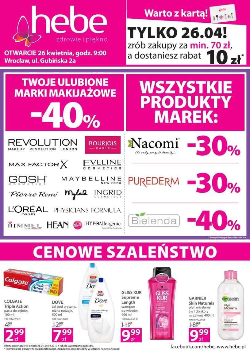 Gazetka promocyjna Hebe - ważna od 25. 04. 2019 do 29. 04. 2019