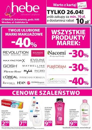 Gazetka promocyjna Hebe, ważna od 26.04.2019 do 29.04.2019.