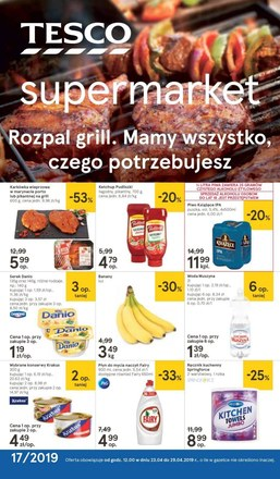 Gazetka promocyjna Tesco Supermarket, ważna od 23.04.2019 do 29.04.2019.