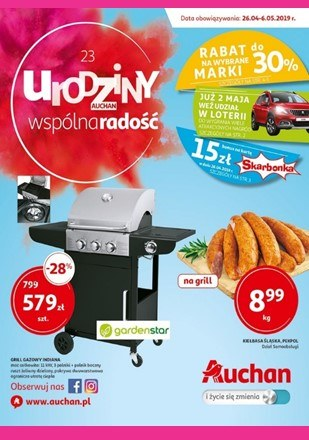 Gazetka promocyjna Auchan, ważna od 26.04.2019 do 06.05.2019.