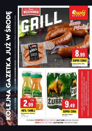 Gazetka promocyjna Twój Market, ważna od 24.04.2019 do 07.05.2019.