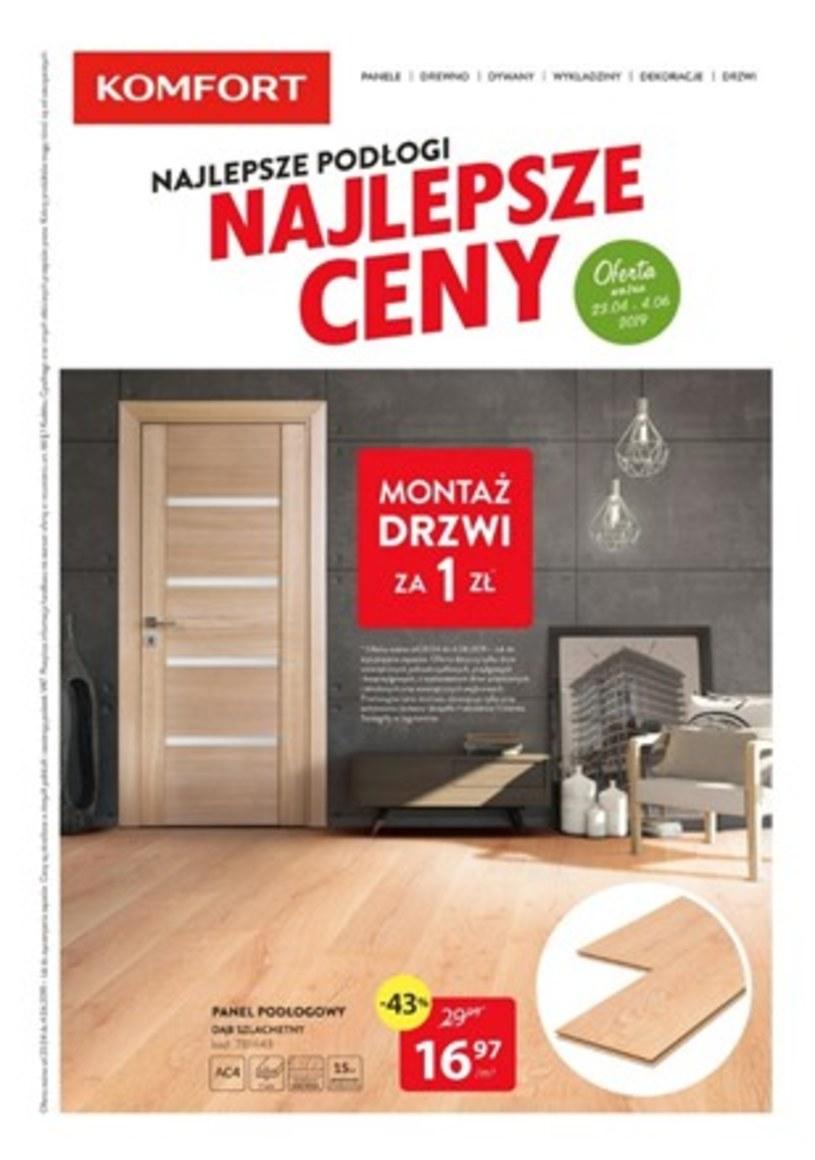 Gazetka promocyjna Komfort - ważna od 23. 04. 2019 do 04. 06. 2019