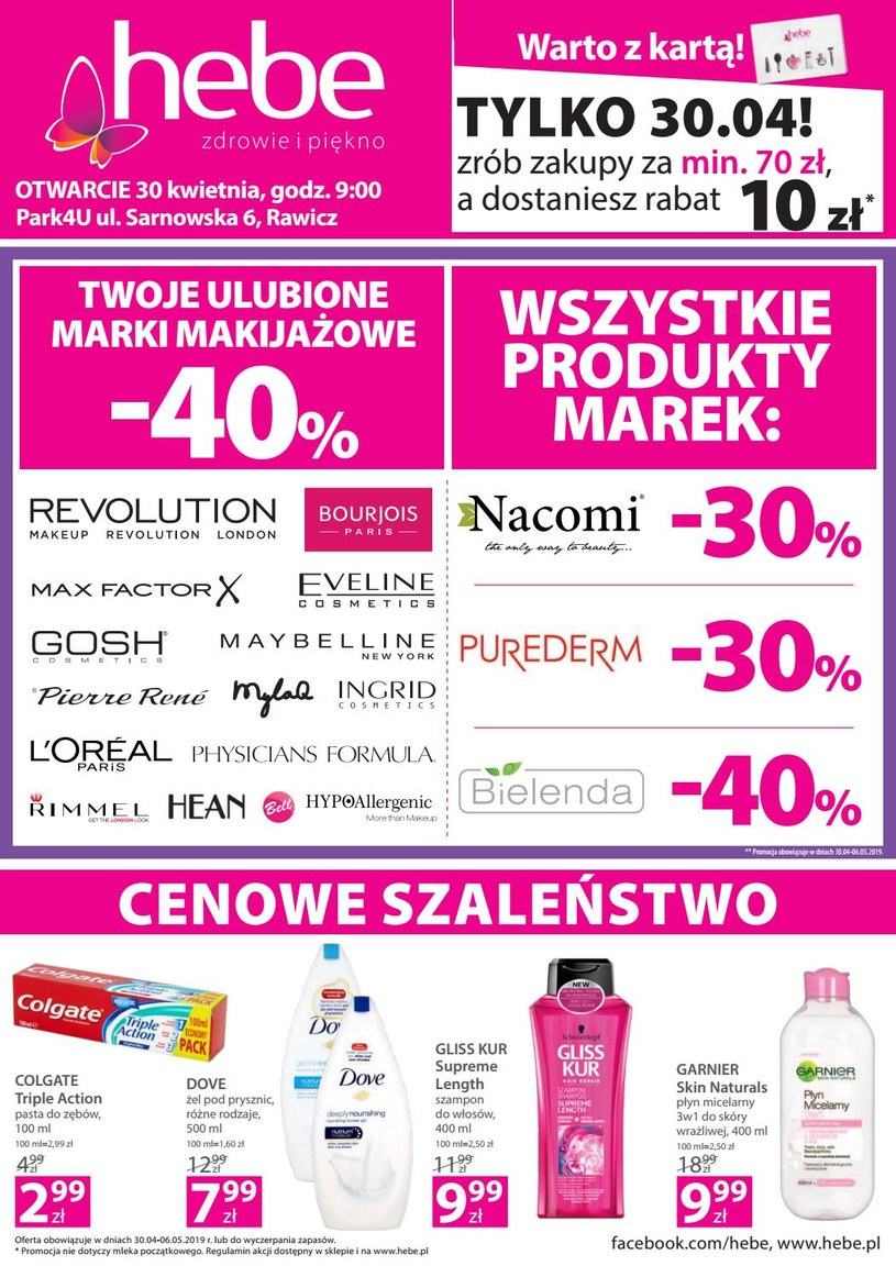 Gazetka promocyjna Hebe - ważna od 29. 04. 2019 do 06. 05. 2019