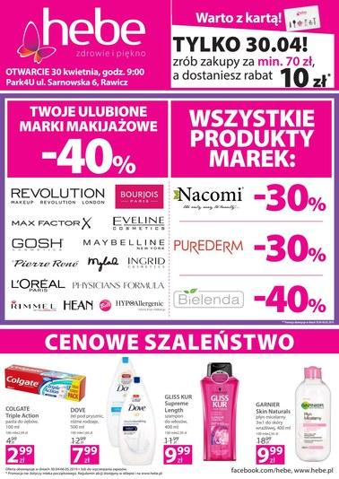 Gazetka promocyjna Hebe, ważna od 30.04.2019 do 06.05.2019.