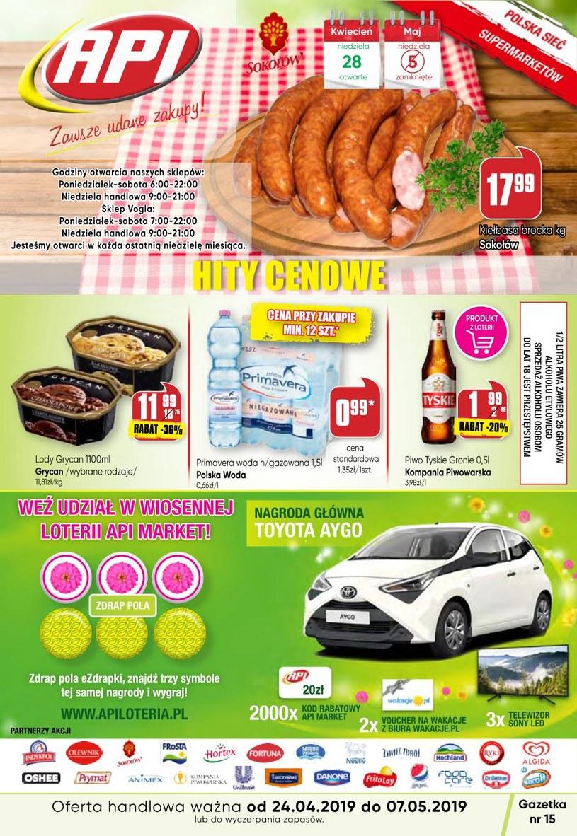 Gazetka promocyjna Api Market - ważna od 24. 04. 2019 do 07. 05. 2019