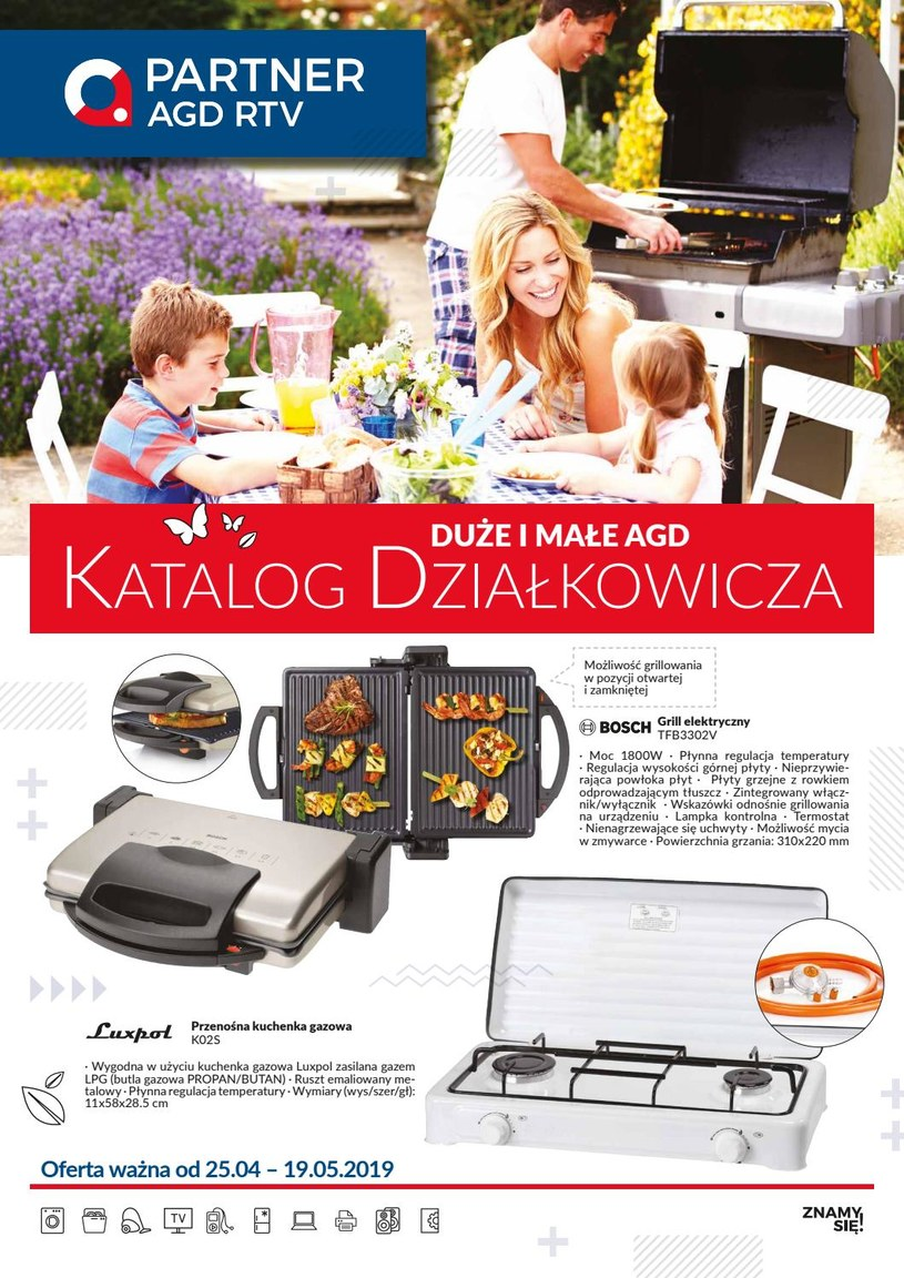 Gazetka promocyjna Partner AGD RTV  - ważna od 24. 04. 2019 do 19. 05. 2019