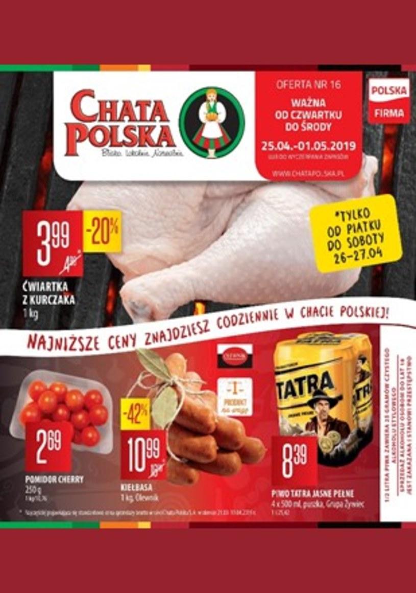 Gazetka promocyjna Chata Polska - ważna od 24. 04. 2019 do 01. 05. 2019