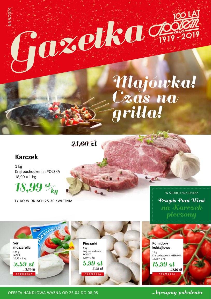 Gazetka promocyjna Społem Kielce - ważna od 24. 04. 2019 do 08. 05. 2019