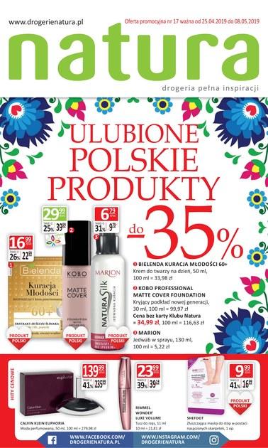 Gazetka promocyjna Drogerie Natura, ważna od 25.04.2019 do 08.05.2019.