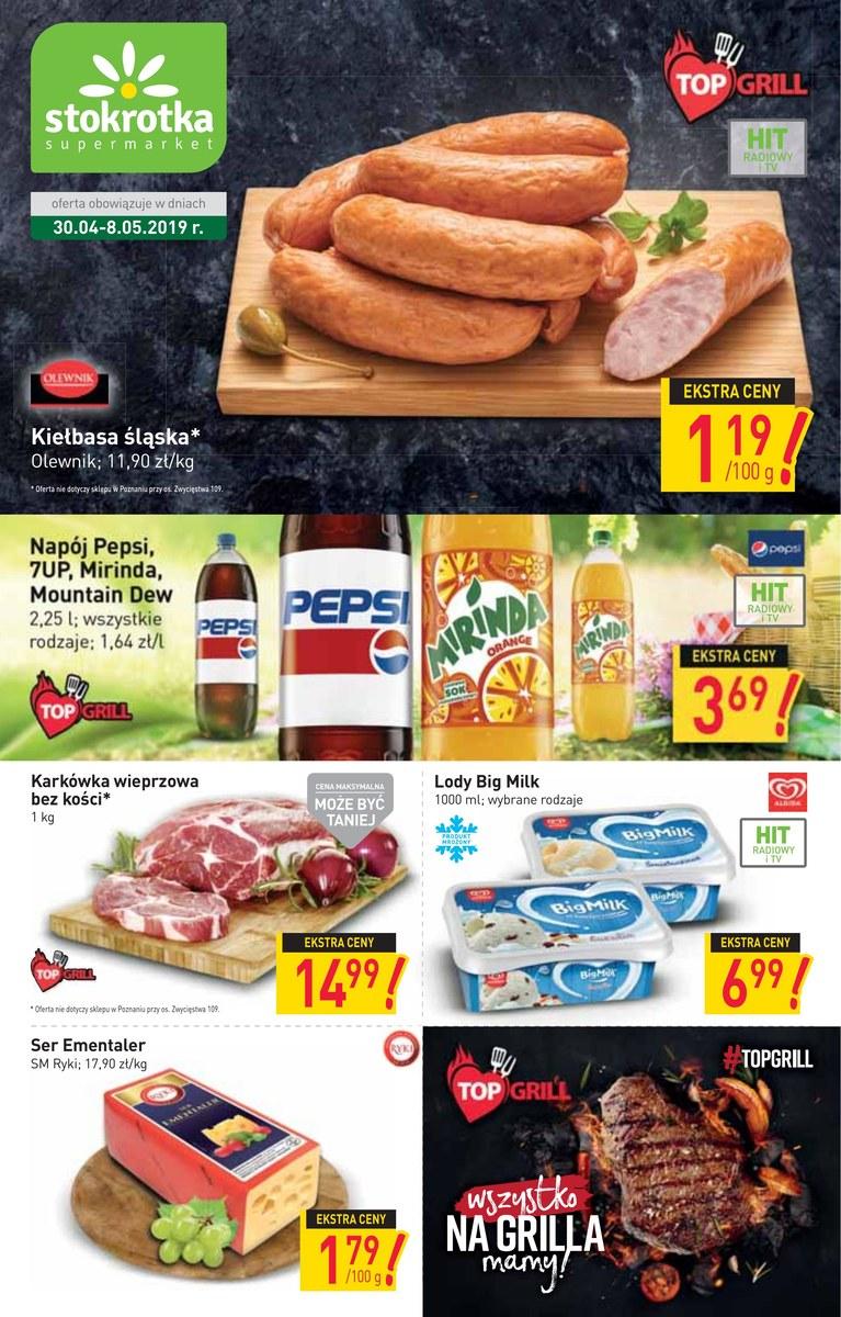 df6cc6d9ce6d7a Gazetka Stokrotka - Gazetka promocyjna - supermarket , strona 1, ważna od  2019-04