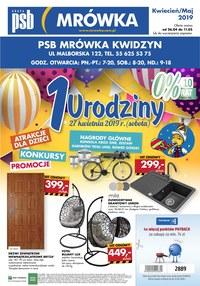 Gazetka promocyjna PSB Mrówka - 1 urodziny - Kwidzyn  - ważna do 11-05-2019