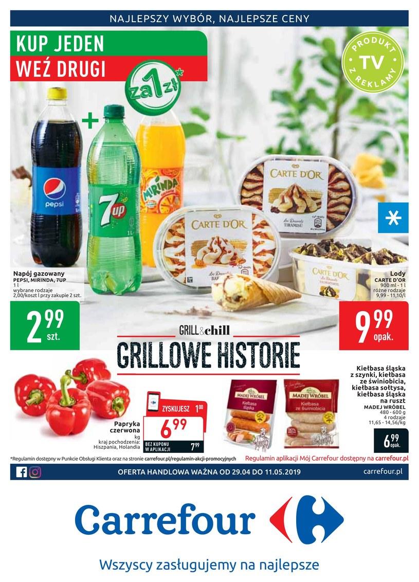 Gazetka promocyjna Carrefour - ważna od 28. 04. 2019 do 11. 05. 2019
