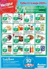 Gazetka promocyjna Auchan - Tylko 2 i 4 maja - ważna do 04-05-2019