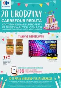 Gazetka promocyjna Carrefour - 20 urodziny Carrefour Reduta - ważna do 11-05-2019