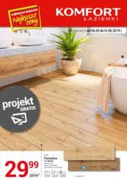 Gazetka promocyjna Komfort Łazienki, ważna od 06.05.2019 do 16.06.2019.