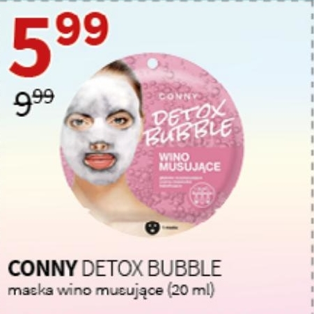 Maska Conny Detox Bubble niska cena