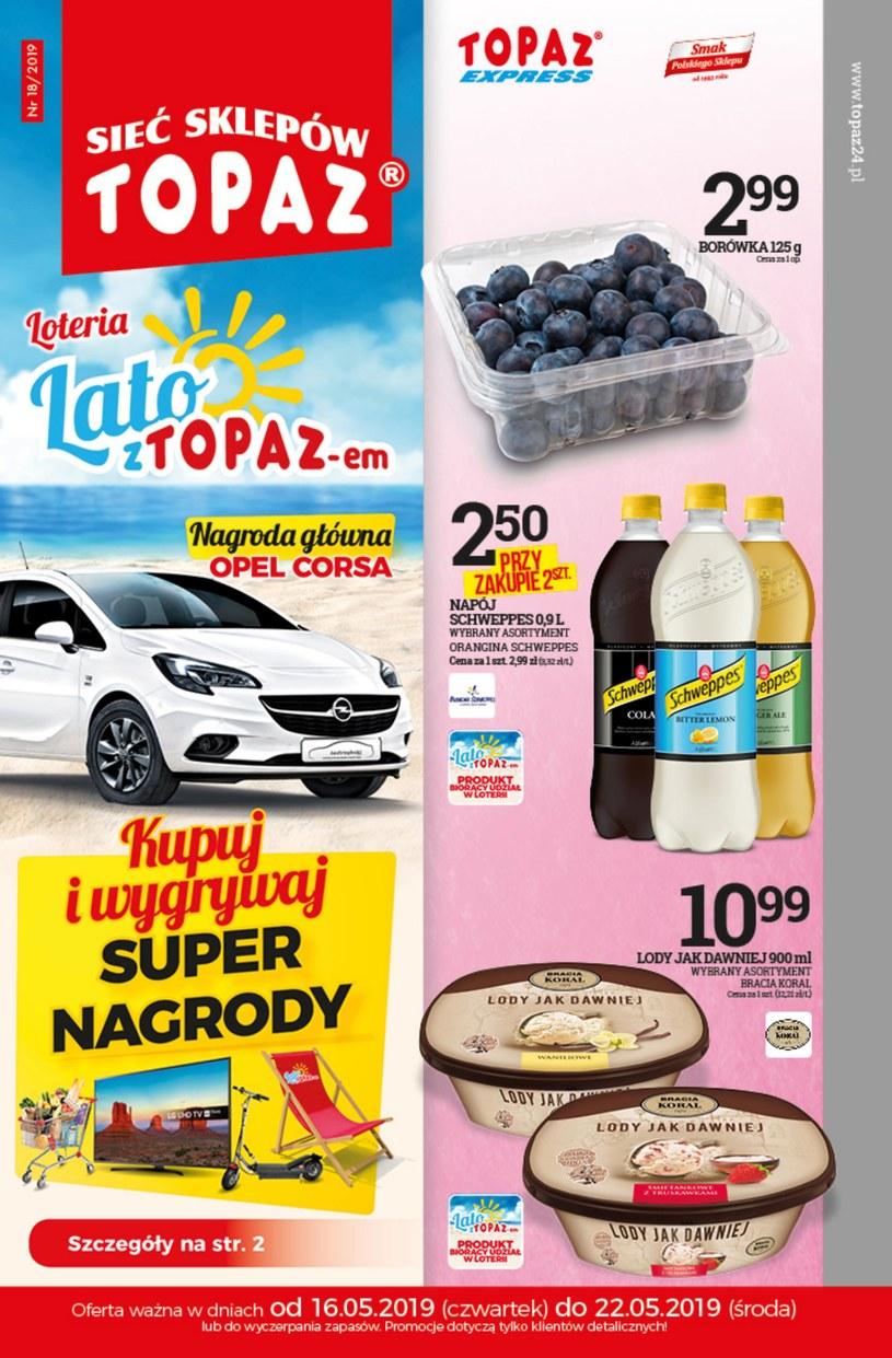 Gazetka promocyjna Topaz - ważna od 16. 05. 2019 do 22. 05. 2019