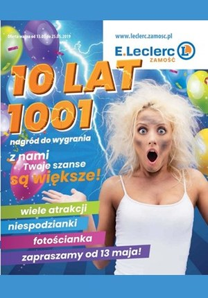 Gazetka promocyjna E.Leclerc - 10 lat - Zamość