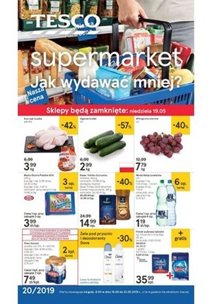 Gazetka promocyjna Tesco Supermarket - Jak wydawać mniej? - supermarket