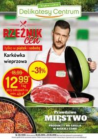 Gazetka promocyjna Delikatesy Centrum - Rzeźnik cen - ważna do 22-05-2019