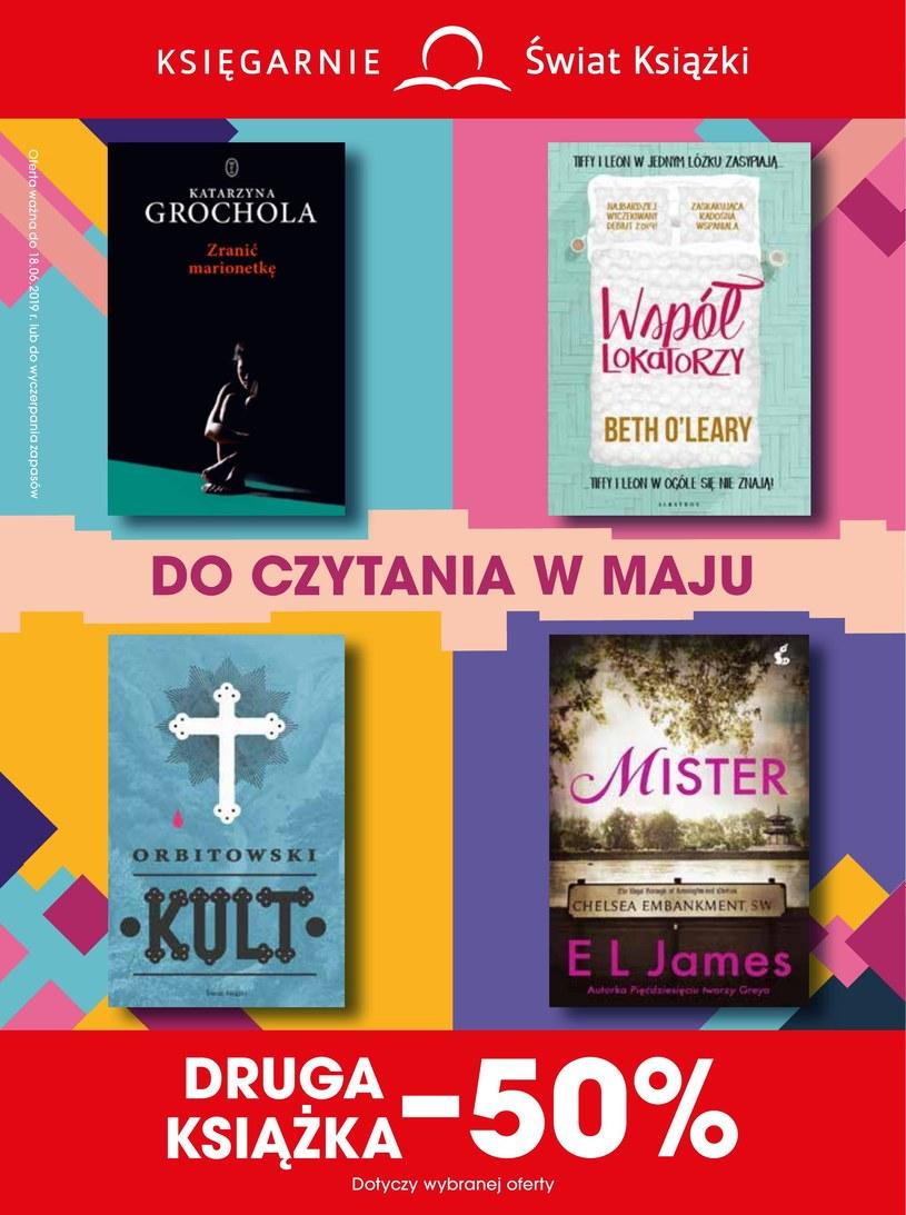 Gazetka promocyjna Księgarnie Świat Książki - ważna od 15. 05. 2019 do 18. 06. 2019