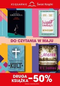 Gazetka promocyjna Księgarnie Świat Książki - Do czytania w maju - ważna do 18-06-2019