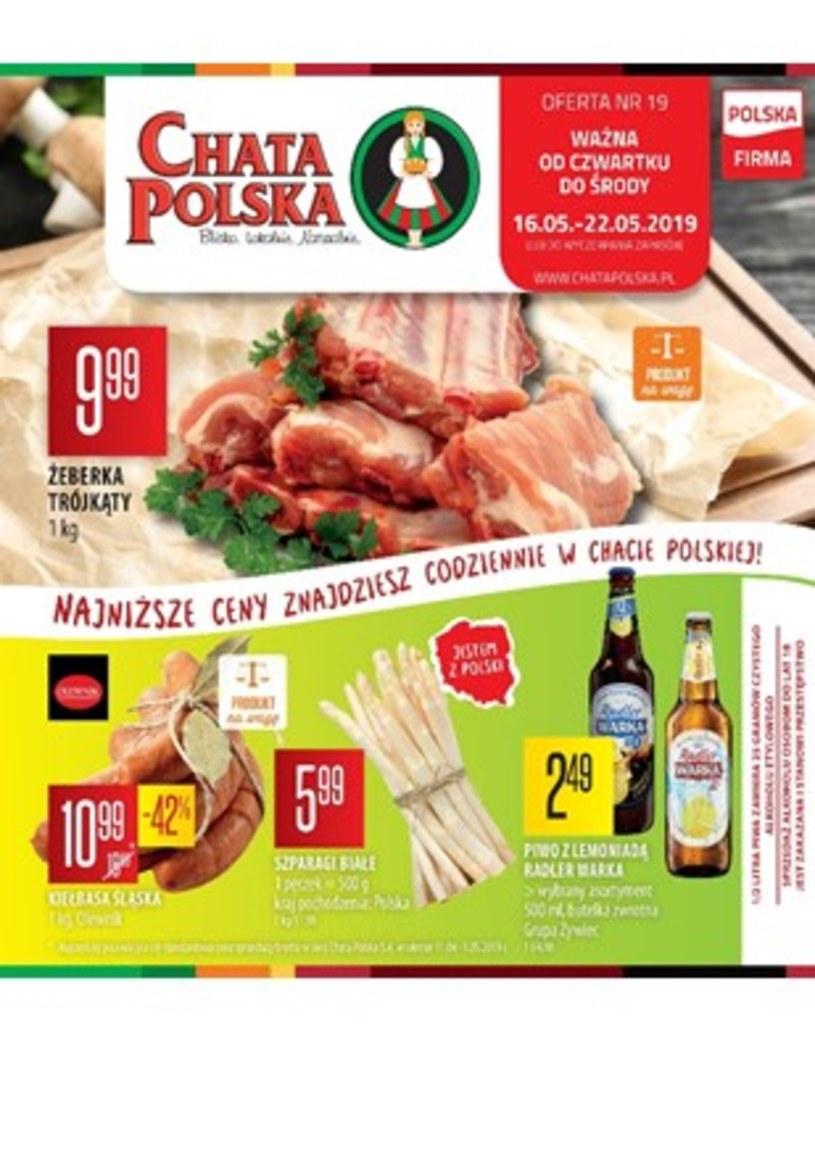 Gazetka promocyjna Chata Polska - wygasła 1 dni temu