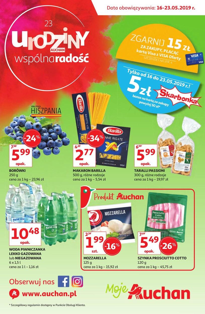 Gazetka promocyjna Auchan - ważna od 16. 05. 2019 do 23. 05. 2019