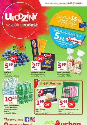 Gazetka promocyjna Auchan - 23 urodziny - Moje Auchan