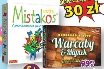 Zestaw gier: Mistakos i Warcaby niska cena
