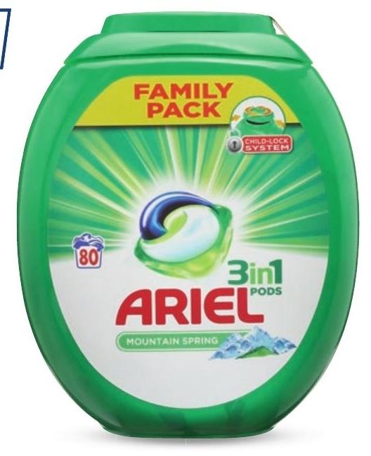 Kapsułki do prania Ariel niska cena