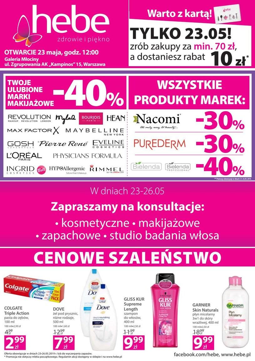 Gazetka promocyjna Hebe - ważna od 23. 05. 2019 do 26. 05. 2019