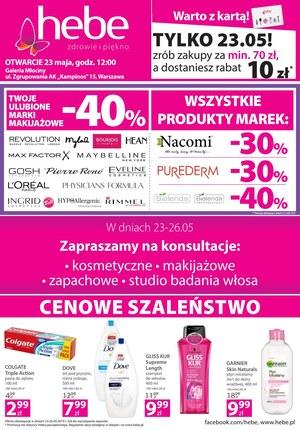 Gazetka promocyjna Hebe, ważna od 23.05.2019 do 26.05.2019.