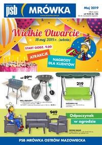 Gazetka promocyjna PSB Mrówka, ważna od 18.05.2019 do 01.06.2019.