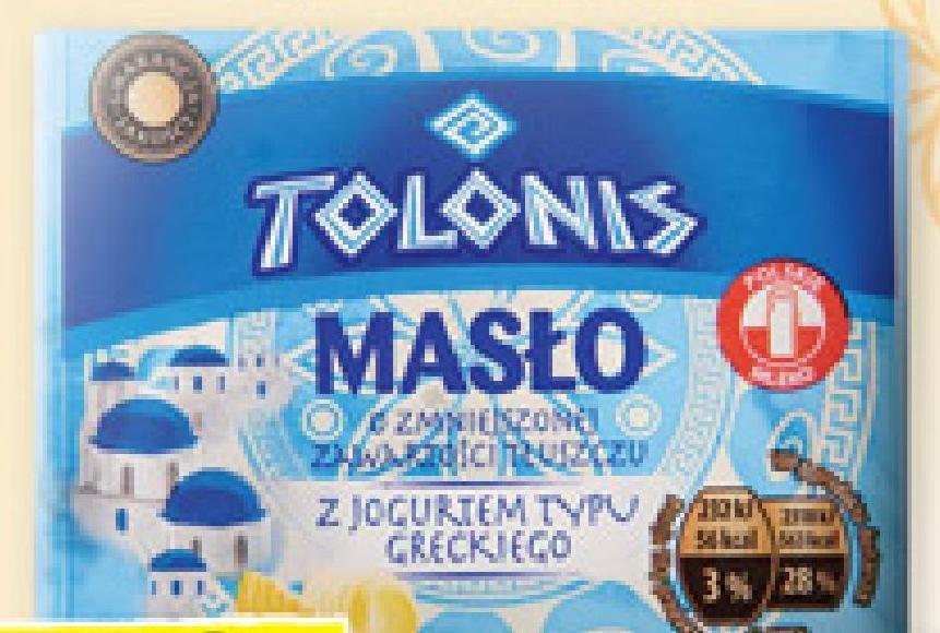 Masło z jogurtem Tolonis niska cena