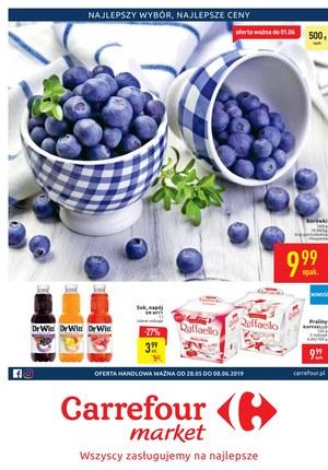 Gazetka promocyjna Carrefour Market, ważna od 28.05.2019 do 08.06.2019.