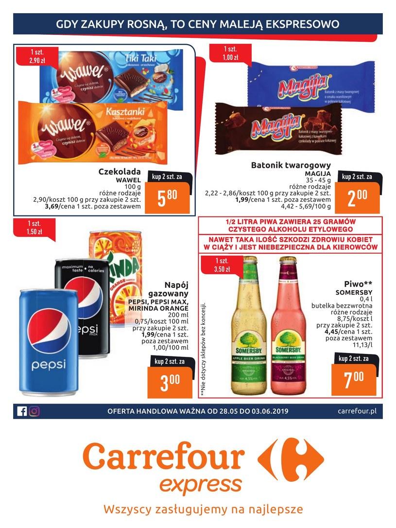 Gazetka promocyjna Carrefour Express - ważna od 28. 05. 2019 do 03. 06. 2019